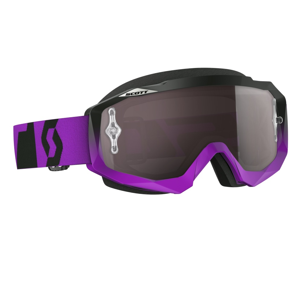 Moto okuliare SCOTT Hustle MXVI oxide purple-black-silver chrome