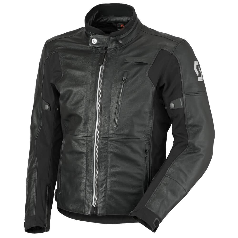 Kožená moto bunda SCOTT Tourance Leather DP čierna - M (46-48) 7102f2ed184