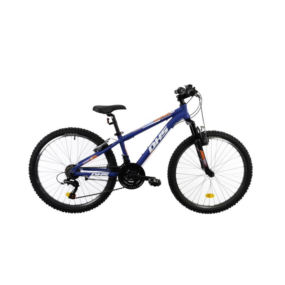 """Juniorský bicykel DHS Teranna 2423 24"""" - model 2021 blue - 12"""" - Záruka 10 rokov"""