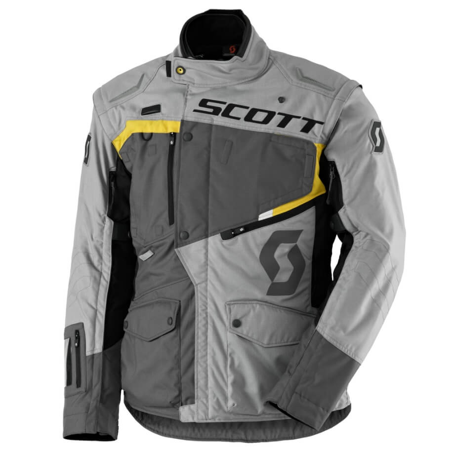 Moto bunda SCOTT Dualraid DP MXVII grey-yellow - XL (54-56)