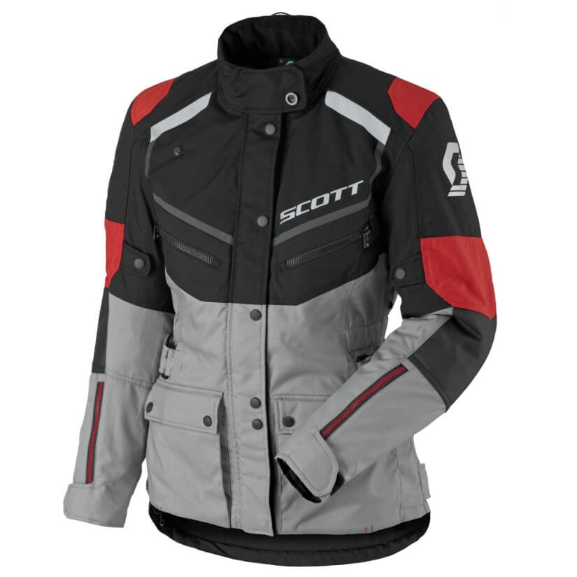 Dámska moto bunda SCOTT W's Turn ADV DP MXVII black-light grey - XXL (42)