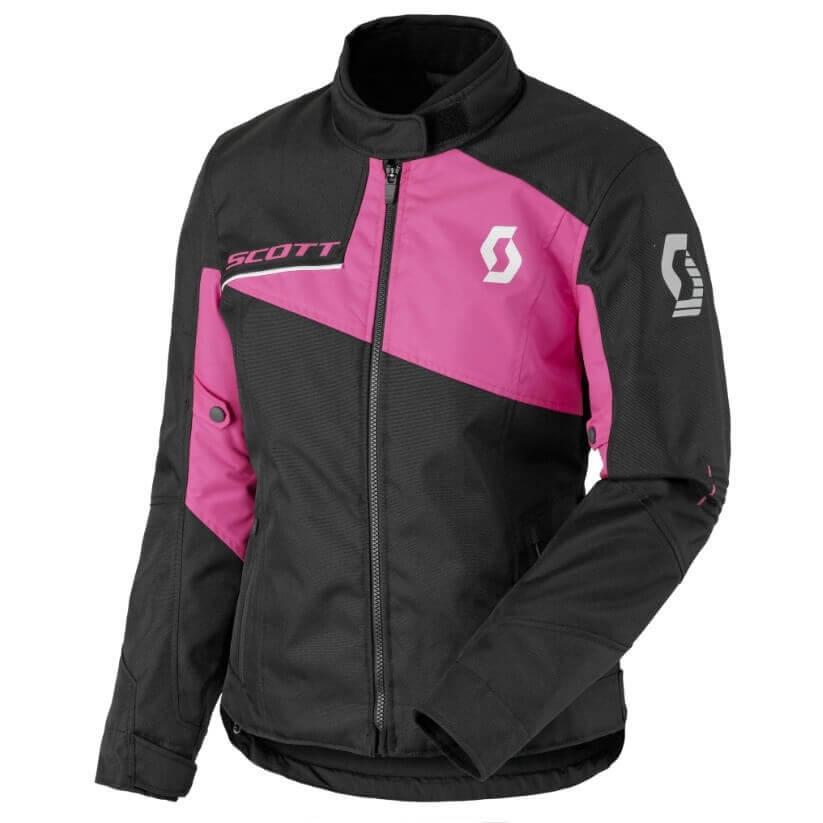 Dámska moto bunda SCOTT W's Sport Pro DP MXVII black-neon pink - XL (40)