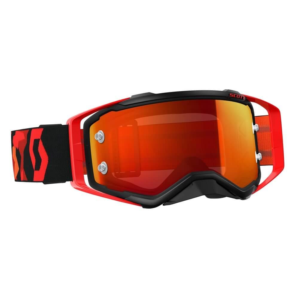 Moto okuliare SCOTT Prospect MXVII black-fluo red-orange chrome