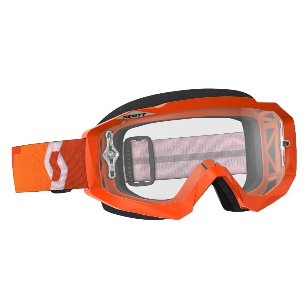 Moto okuliare SCOTT Hustle MXVII Clear orange