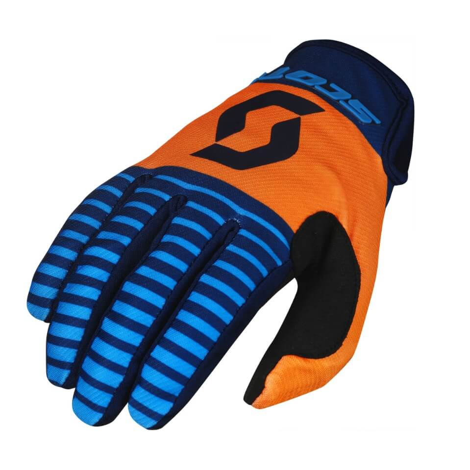 Moto rukavice SCOTT 350 Track MXVII blue-orange - XL