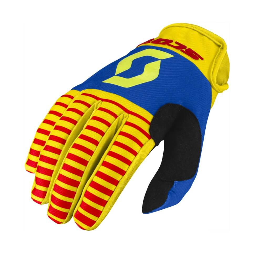 Moto rukavice SCOTT 350 Track MXVII yellow-red - M