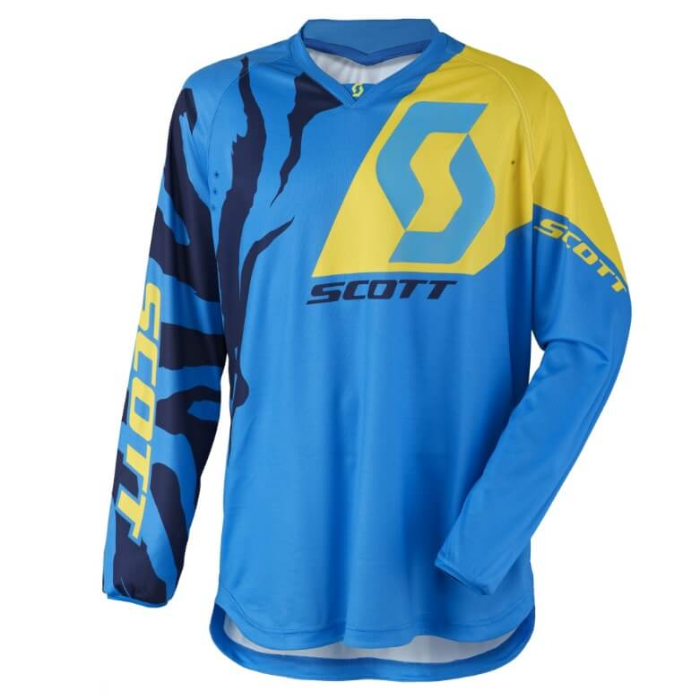 Motokrosový dres SCOTT 350 Race MXVII blue-yellow - L (50-52)