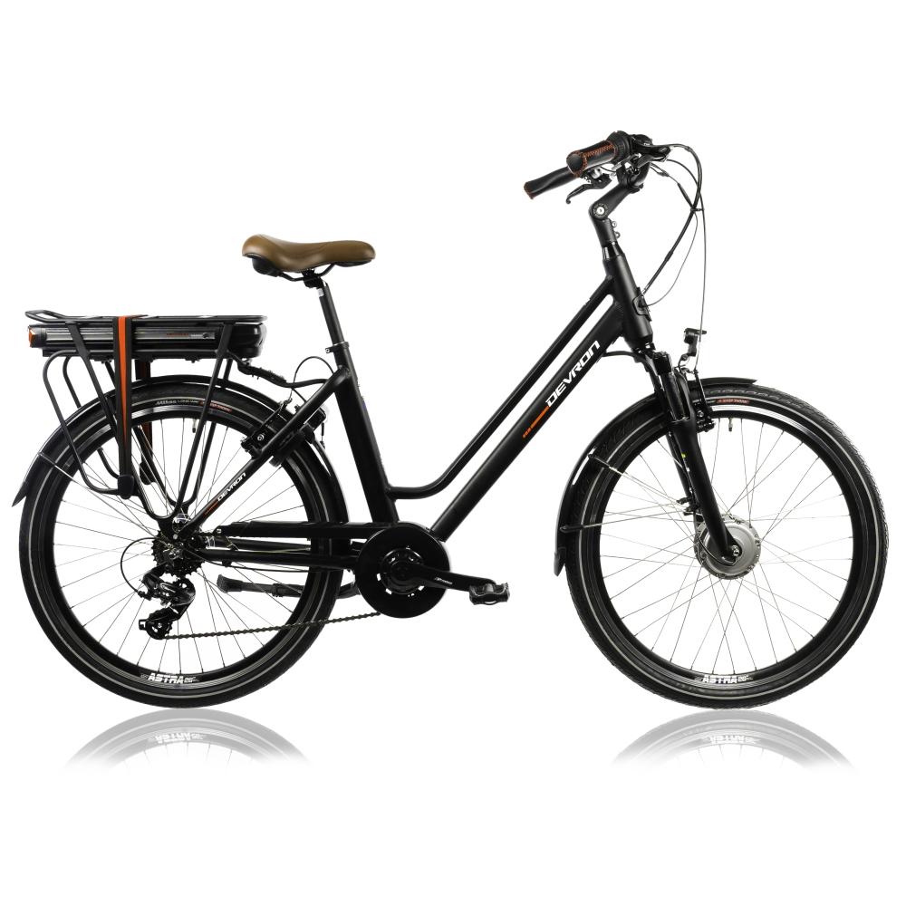 "Mestský elektrobicykel Devron 26120 26"" - model 2022 Black - 18"" - Záruka 10 rokov"