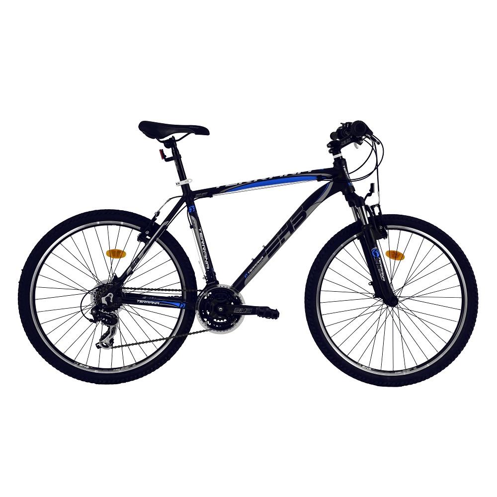 """Horský bicykel DHS Terrana 2623 26"""" - model 2016 Black-Blue - 18"""" - Záruka 10 rokov"""
