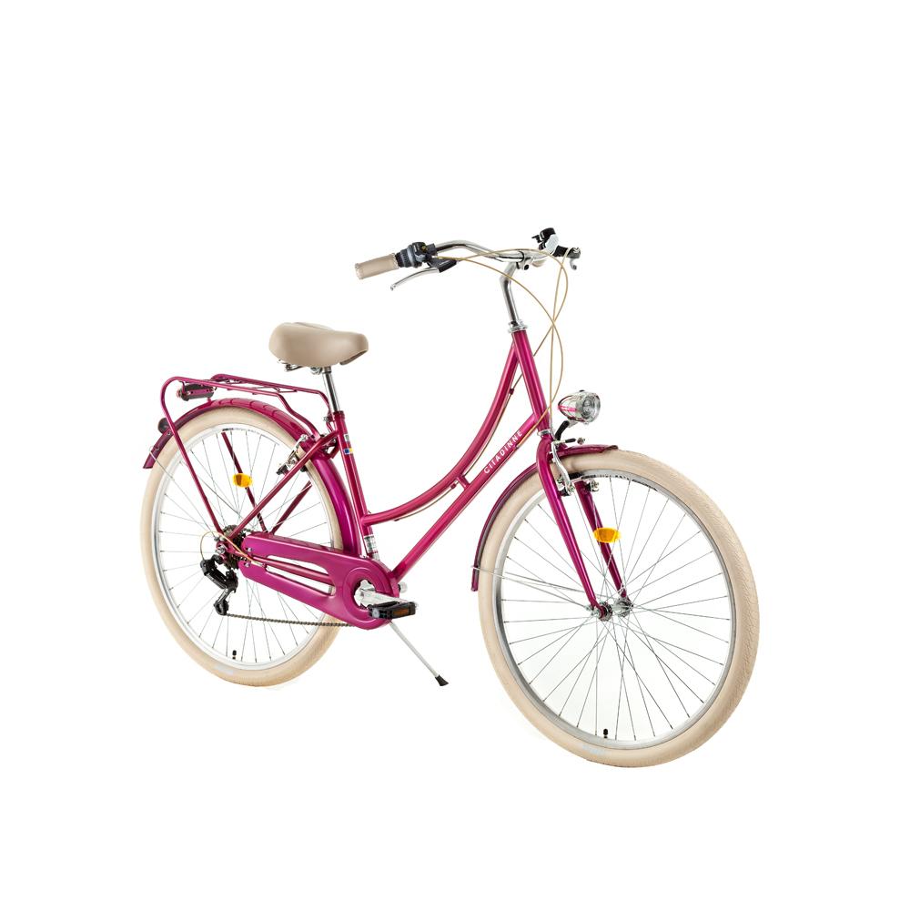 "Mestský bicykel DHS Citadinne 2634 26"" - model 2019 Pink - 18"" - Záruka 10 rokov"