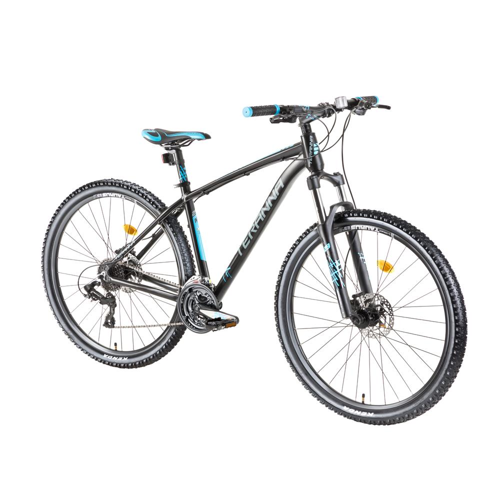 """Horský bicykel DHS Teranna 2729 27,5"""" - model 2018 Black - 18"""" - Záruka 10 rokov"""