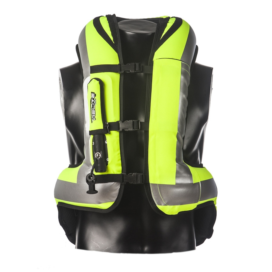 Airbagová moto vesta Helite Turtle HiVis rozšírená HiVis žltá - L