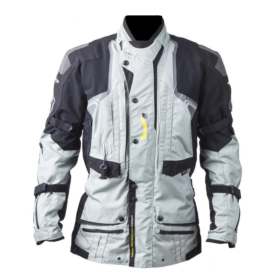 Airbagová bunda Helite Touring textilná šedá - 3XL
