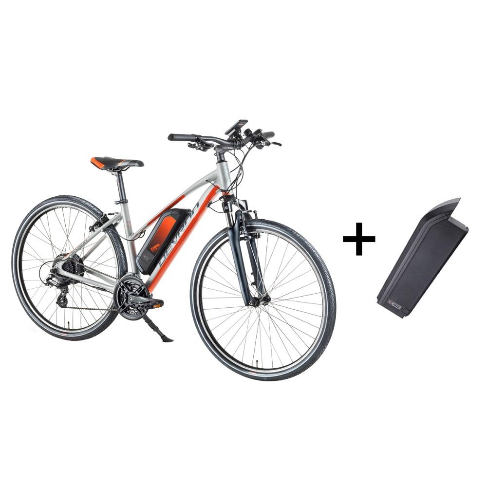 """Dámsky crossový elektrobicykel Devron 28162 28"""" s náhradnou batériou 14,5 Ah - model 2018 Silver - 18"""""""