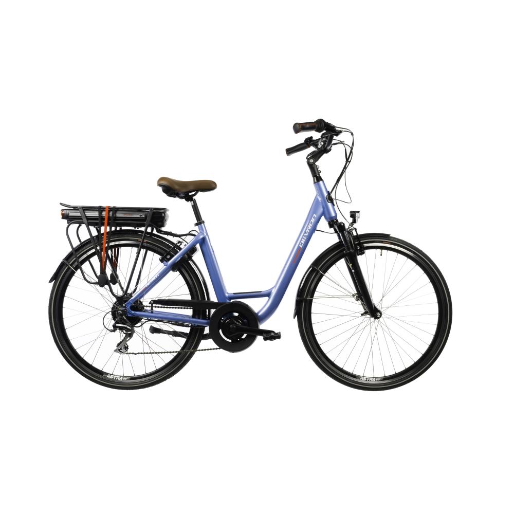 "Mestský elektrobicykel Devron 28220 28"" - model 2022 blue - 19"" - Záruka 10 rokov"