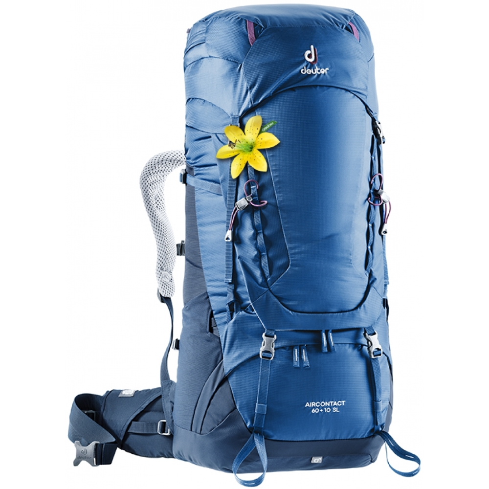 Expedičný batoh DEUTER Aircontact 60 + 10 SL steel-midnight