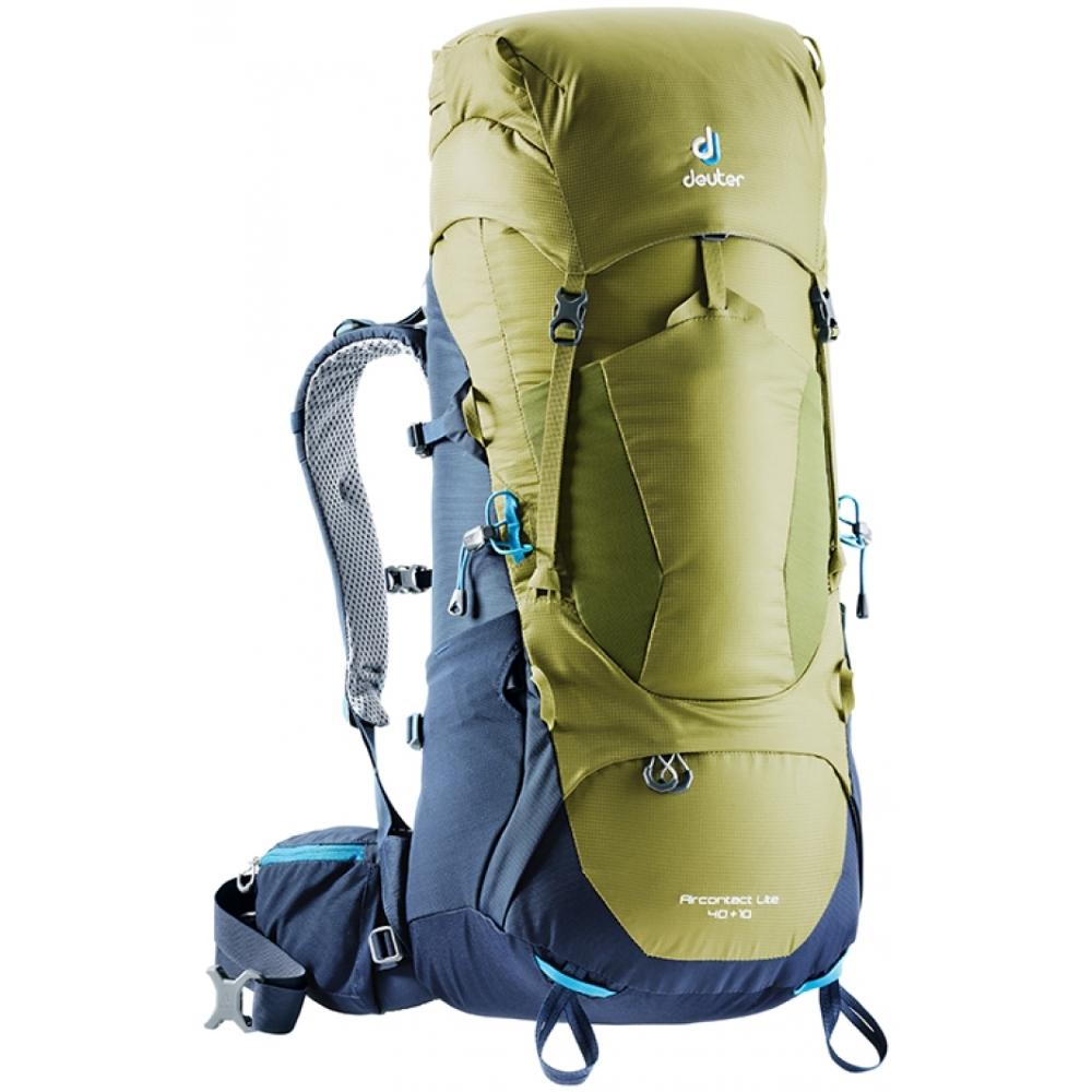 Turistický batoh DEUTER Aircontact Lite 40 + 10 moss-navy