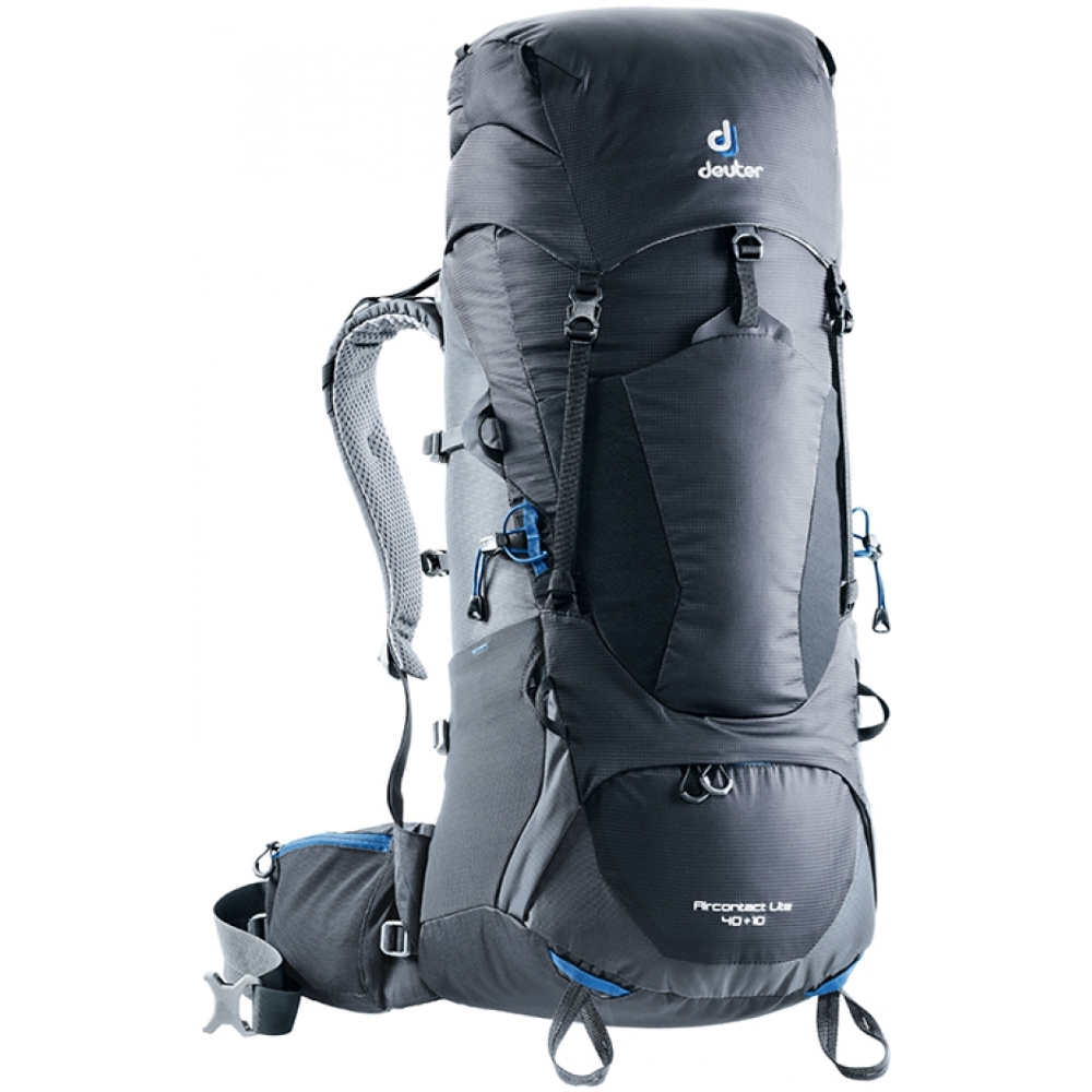 Turistický batoh DEUTER Aircontact Lite 40 + 10 black-graphite