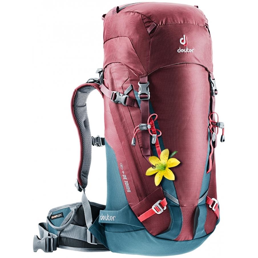 Horolezecký batoh DEUTER Guide 30+SL maron-arctic