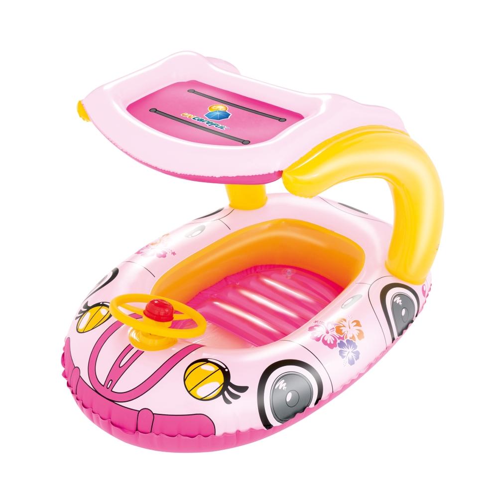 Plávajúce auto Bestway Kiddie Car ružová