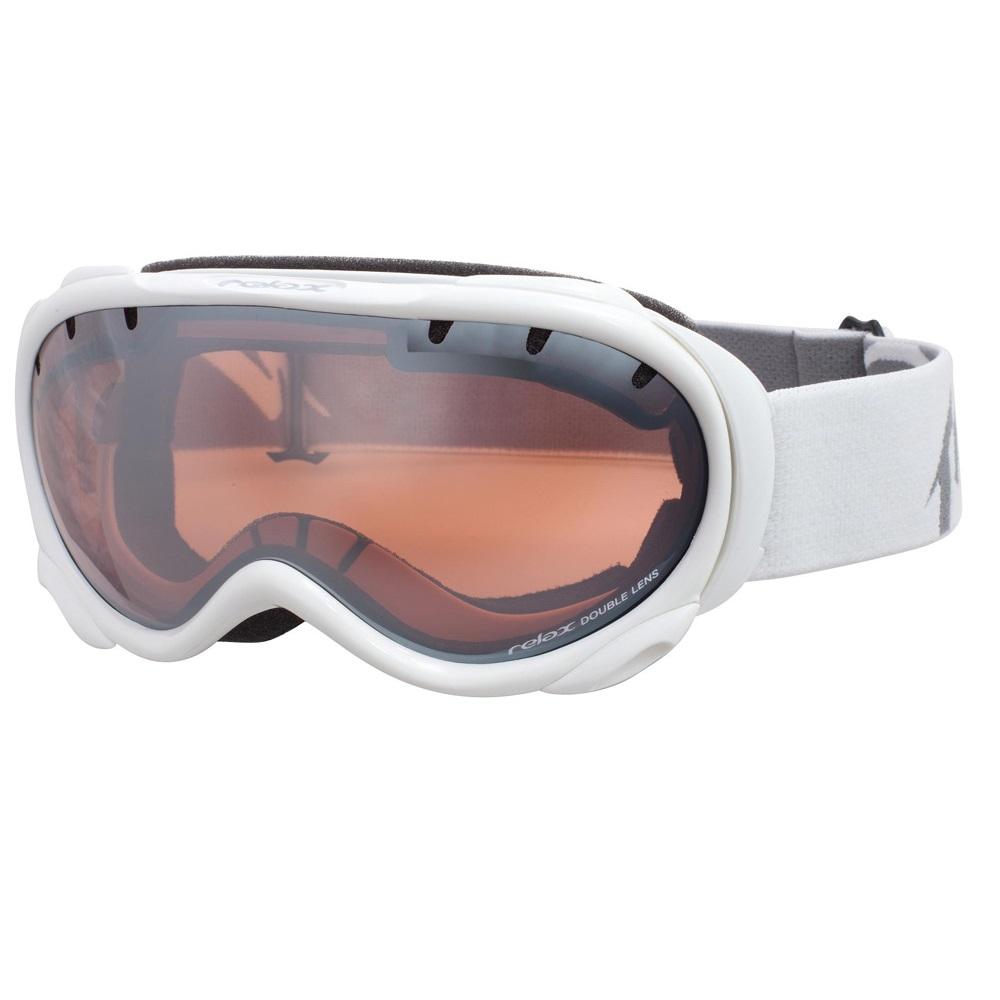 Lyžiarske okuliare RELAX Snowflake biela