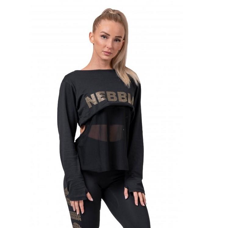 Dámske tričko Nebbia Intense Mesh 805 Black - M