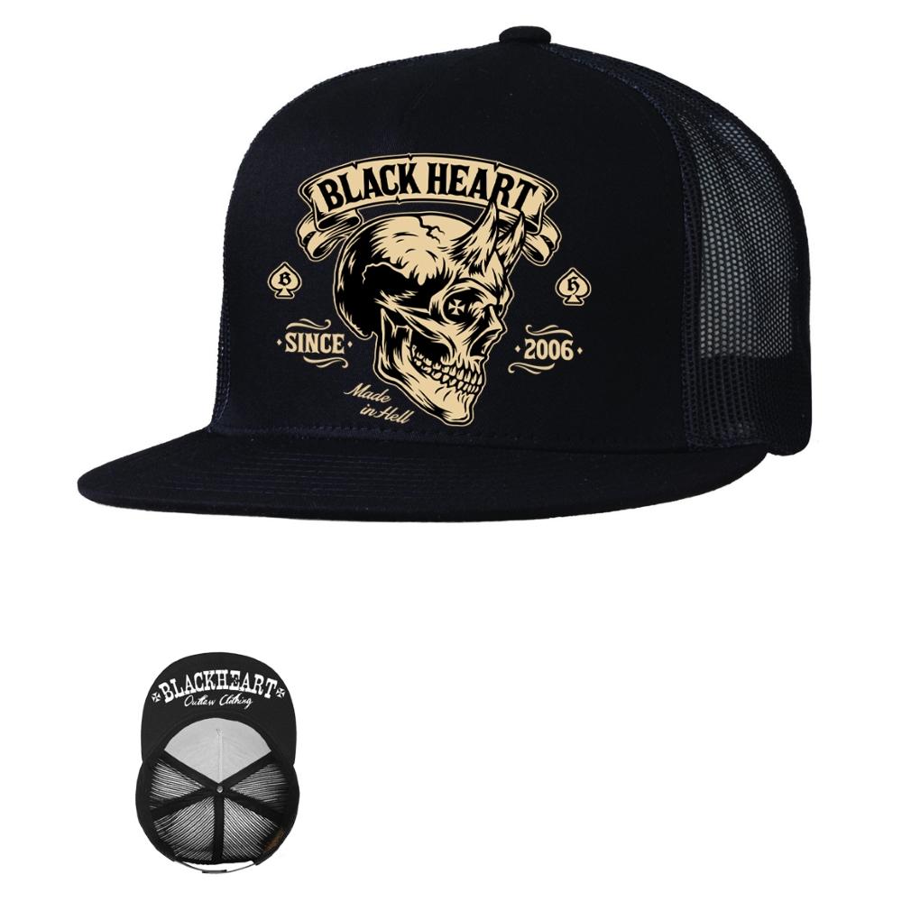 Šiltovka BLACK HEART Devil Skull Trucker
