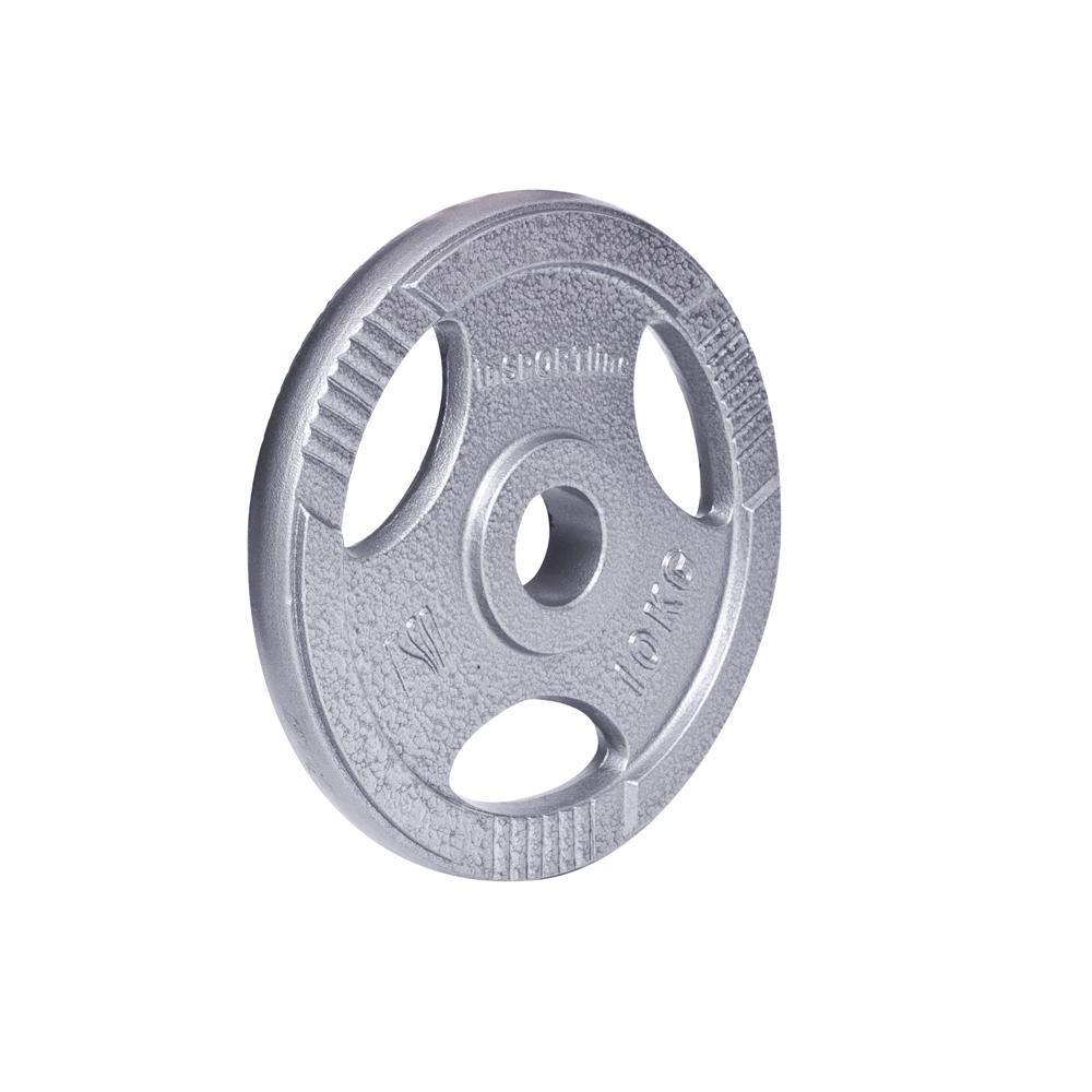 Oceľový olympijský kotúč inSPORTline Hamerton 10 kg