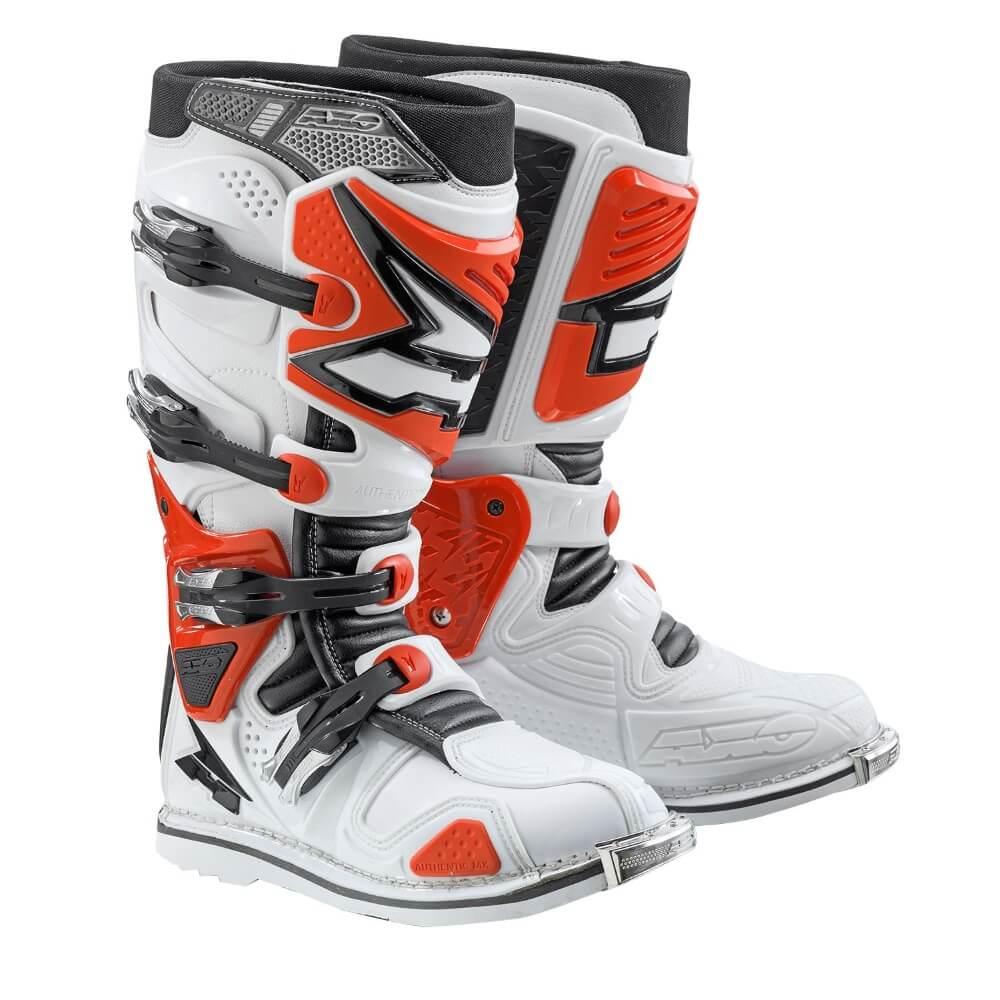 Motokrosové topánky AXO A2 bielo-červená - 42