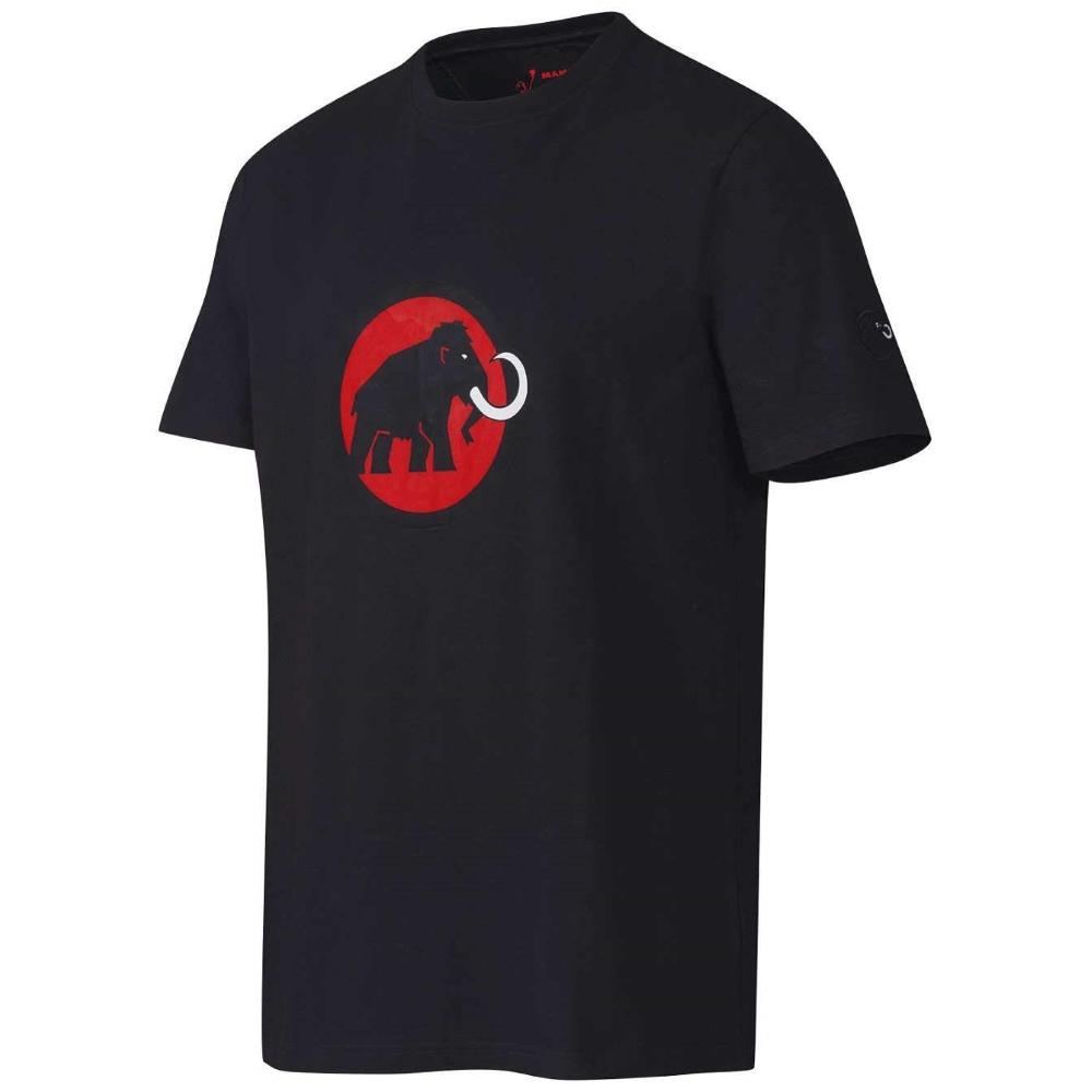 00696d88f35fc Pánské športové tričko MAMMUT - krátky rukáv - čierna s červeným logom