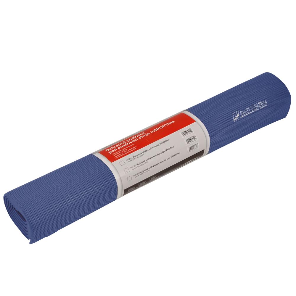 Univerzálna ochranná podložka inSPORTline 120 x 80 x 0,6 cm modrá