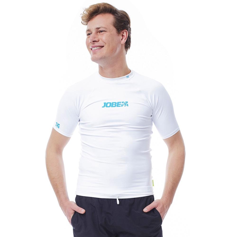 Pánske tričko na vodné športy Jobe Rashguard biela - XXXL
