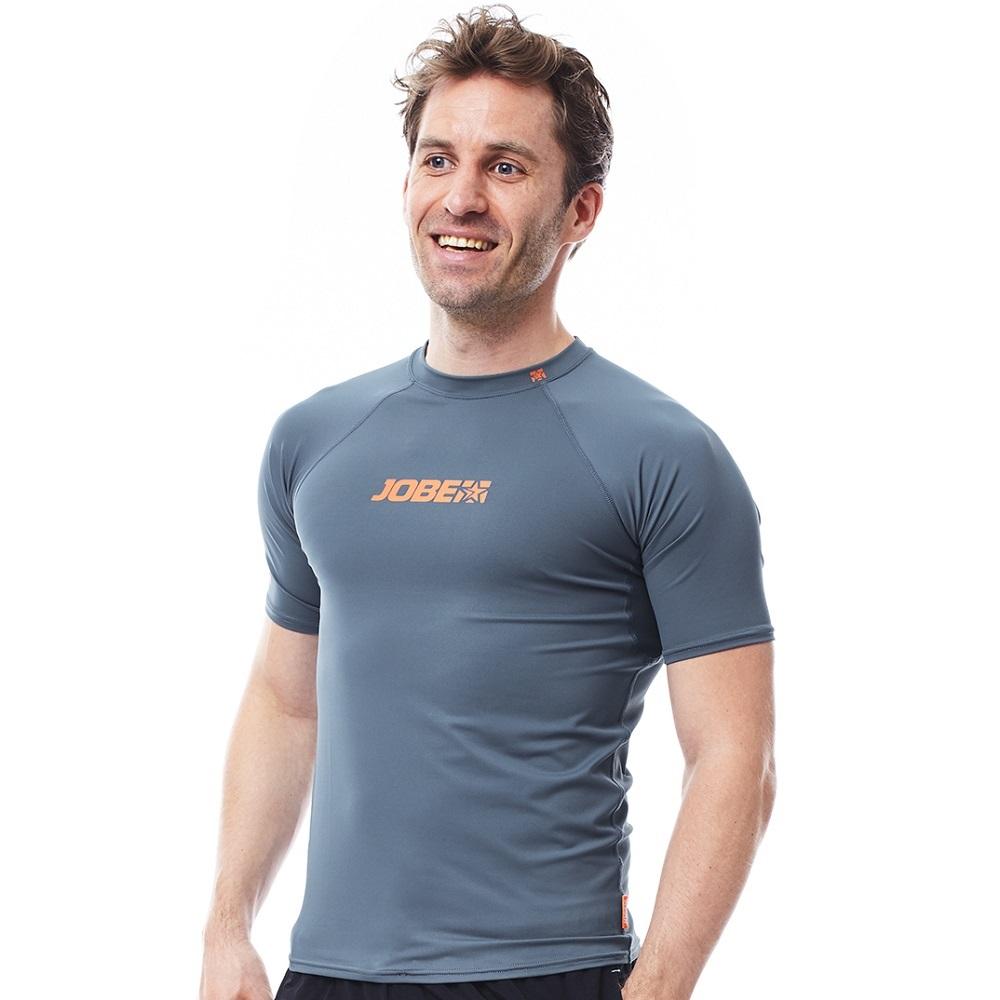 Pánske tričko na vodné športy Jobe Rashguard modrá - XL