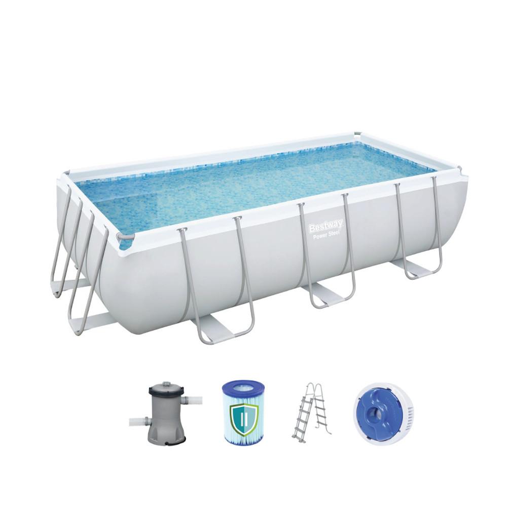 Obdĺžníkový bazén Bestway Power Steel 404 x 201 x 100 cm s filtráciou