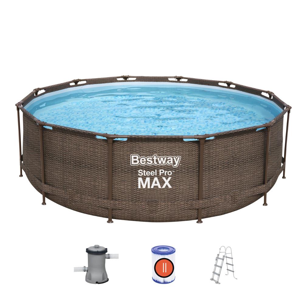 Bazén Bestway Steel Pro Max Rattan 366 x 100 cm s filtráciou