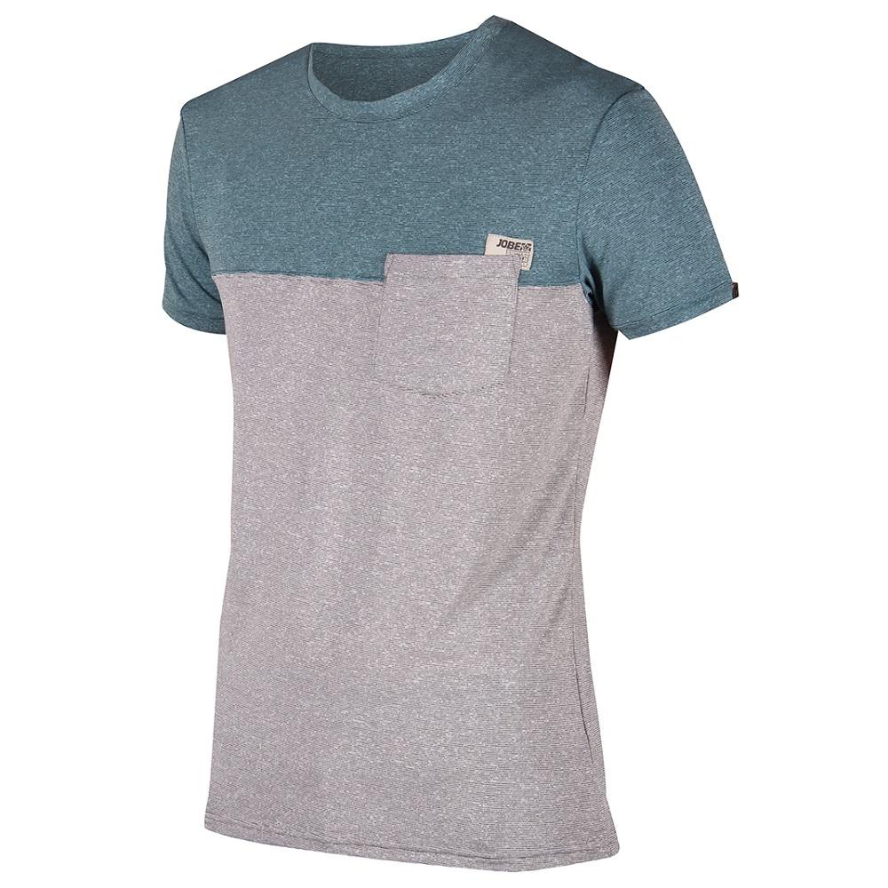 Pánske tričko Jobe Discover Fog Blue modro-šedá - M