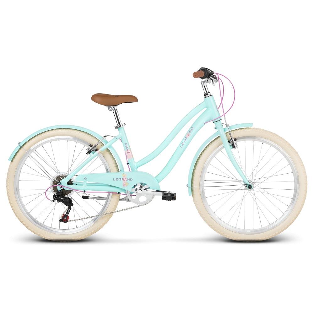 """Juniorský dievčenský bicykel Le Grand Pave JR 24"""" - model 2020 modrá"""