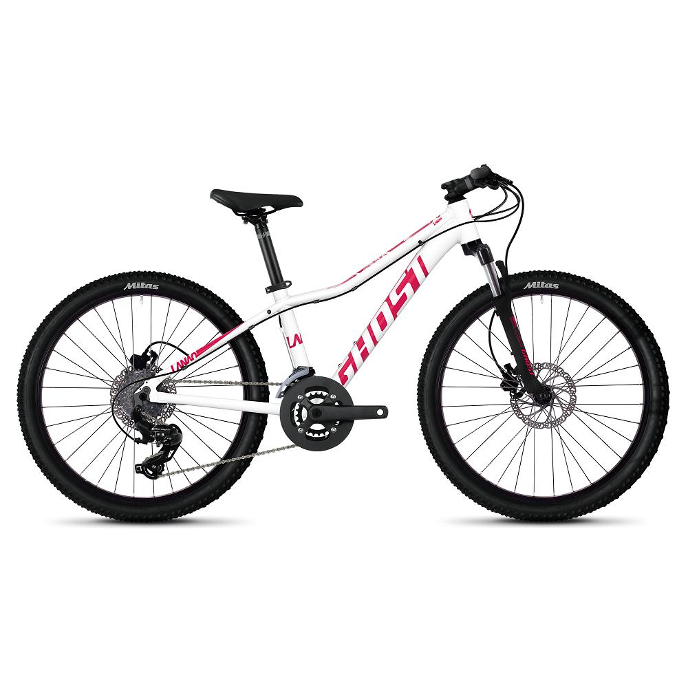 """Juniorský bicykel Ghost Lanao D4.4 AL 24"""" - model 2020 Star White / Ruby Pink - Záruka 10 rokov"""