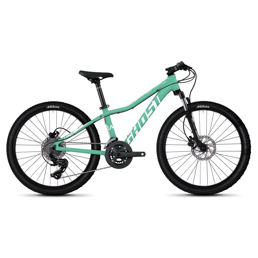 """Juniorský bicykel Ghost Lanao D4.4 AL 24"""" - model 2020 Jade Blue / Star White - Záruka 10 rokov"""