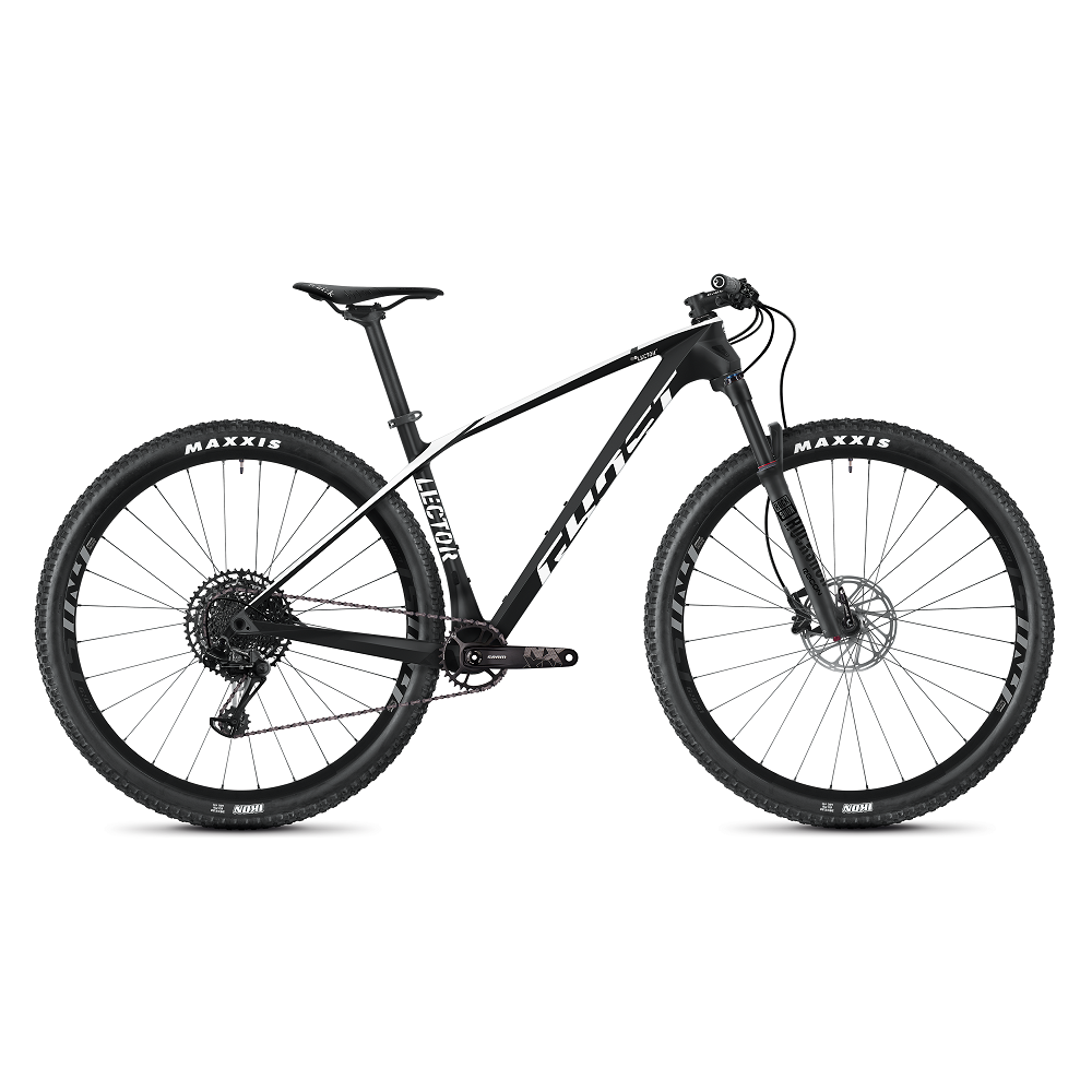 "Horský bicykel Ghost Lector 3.9 LC 29"" - model 2020 Night Black / Star White - S (16,5"") - Záruka 10 rokov"
