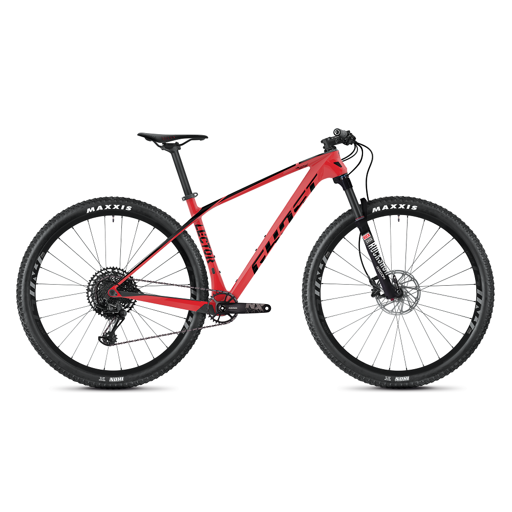 "Horský bicykel Ghost Lector 3.9 LC 29"" - model 2020 Riot Red / Jet Black - S (16,5"") - Záruka 10 rokov"
