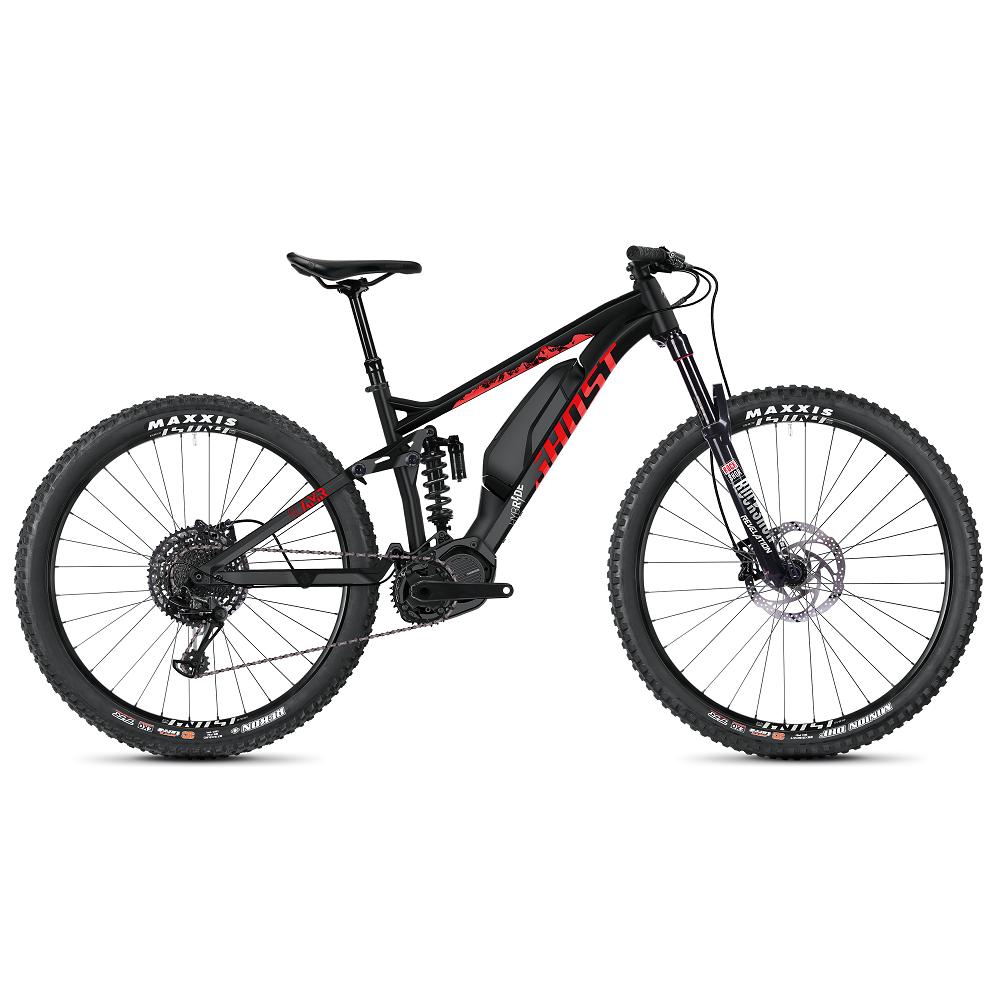 """Celoodpružený elektrobicykel Ghost Hybride SL AMR S2.7+ AL 29"""" - model 2020 Night Black / Riot Red / Iridium Silver - S (15,5"""") - Záruka 10 rokov"""