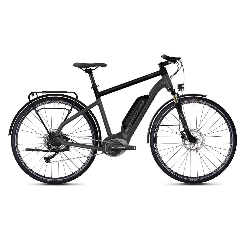 "Trekingový elektrobicykel Ghost Square Trekking B1.8 28"" - model 2020 Titanium Gray / Jet Black / Iridium Silver - XL (24,5"") - Záruka 10 rokov"