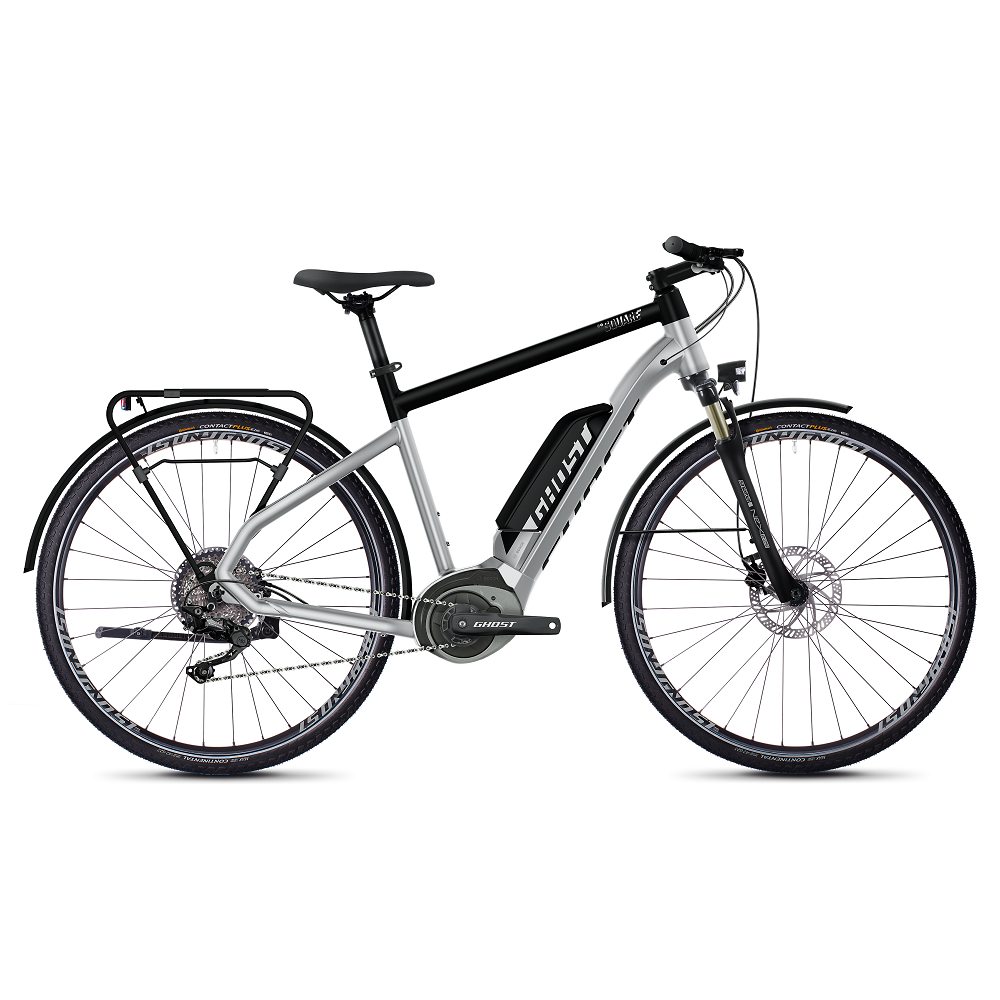 "Trekingový elektrobicykel Ghost Hybride Square Trekking B2.8 28"" - model 2020 Iridium Silver / Jet Black - M (20,5"")"
