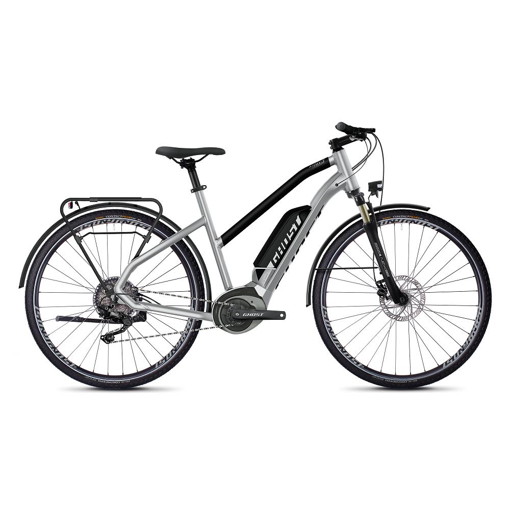 "Dámsky trekingový elektrobicykel Ghost Hybride Square Trekking B2.8 Ladies 28"" - model 2020 Iridium Silver / Jet Black - M (20,5"") - Záruka 10 rokov"