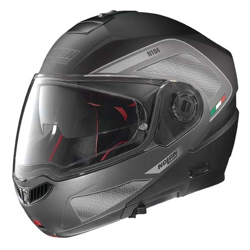 Moto prilba Nolan N104 Absolute Tech N-Com Flat Black - 2XL (63-64)