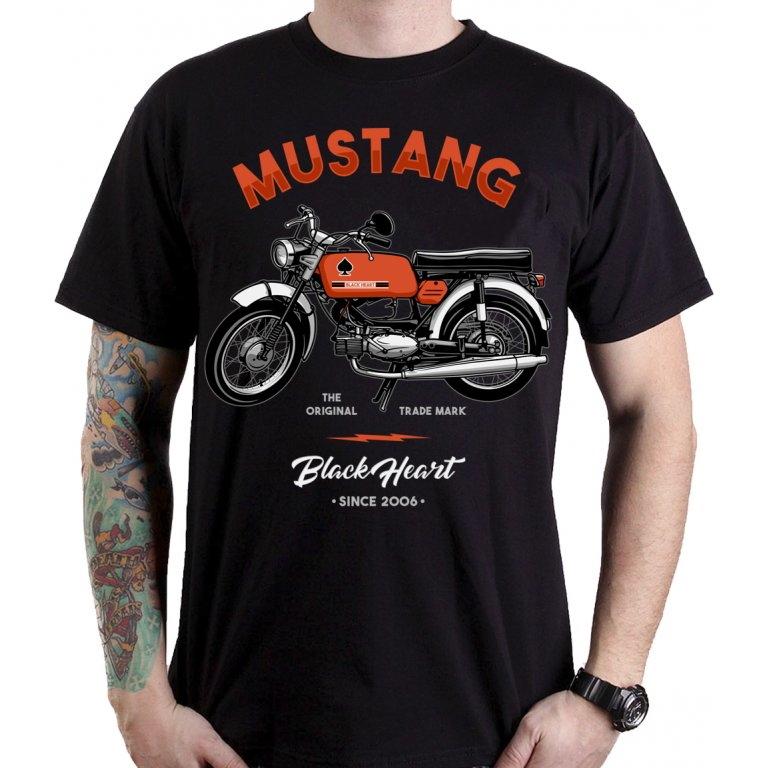 Tričko BLACK HEART Mustang
