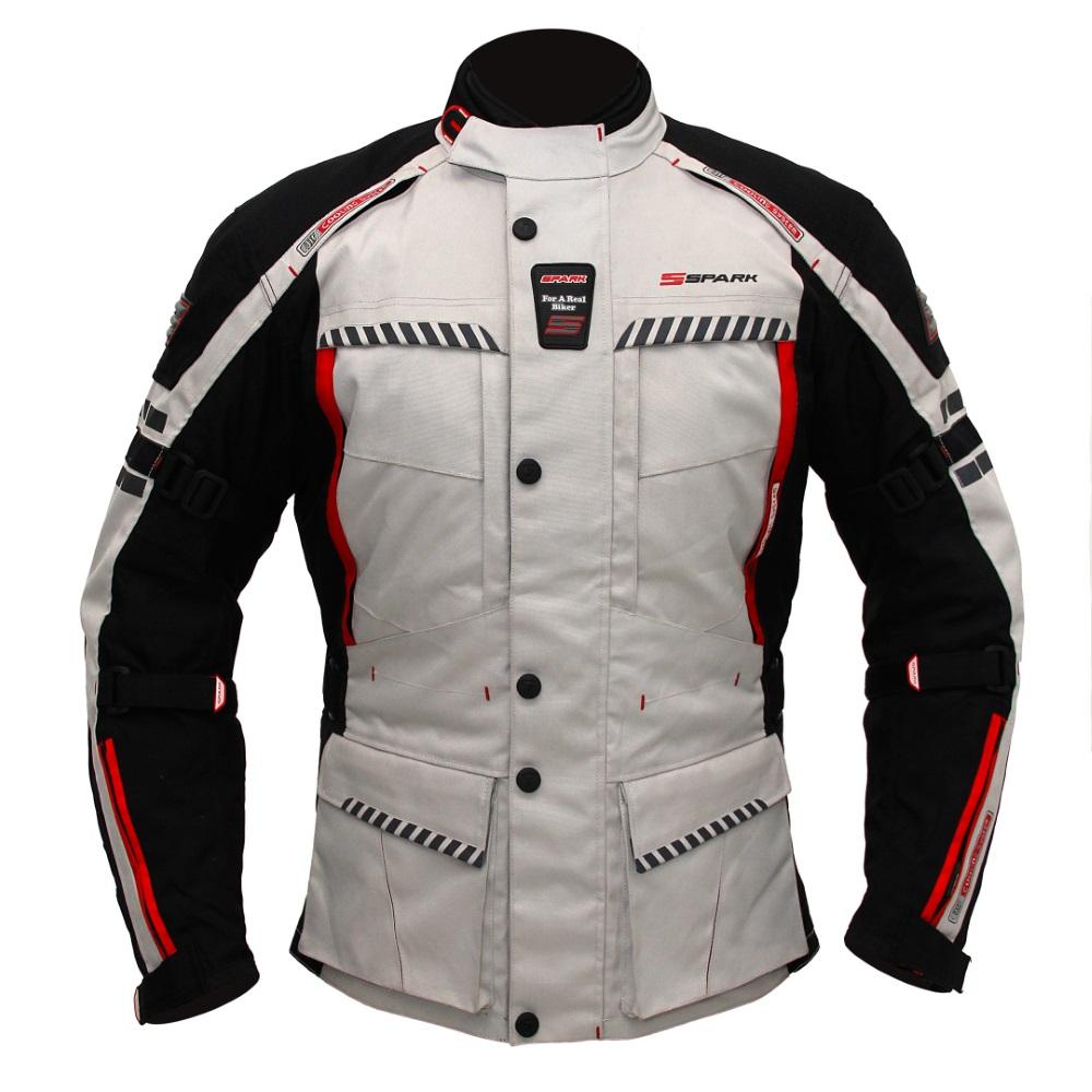 Pánská textilná moto bunda Spark Escape čierno-šedá - 5XL