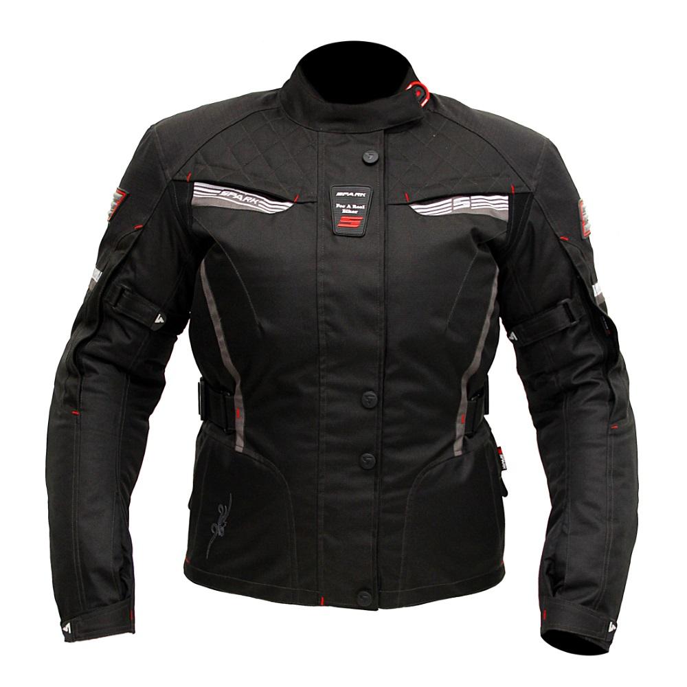 Dámska moto bunda Spark Trinity čierna - XS
