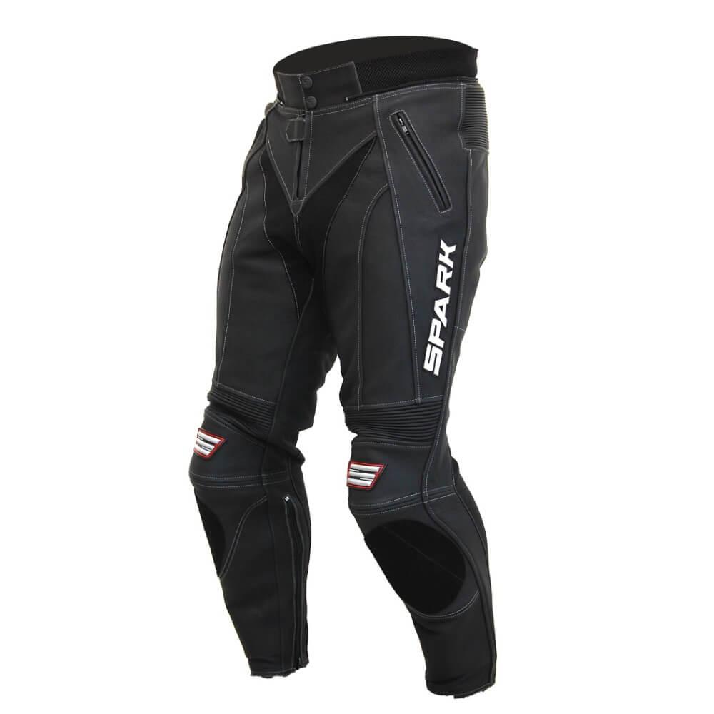 Pánske kožené moto nohavice Spark ProComp čierna - S